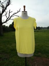 Pretty TU Linen Mix Canary Yellow Sleeveless Jumper Plus Size 22 Worn Once