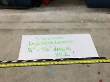 "5' Solid Glass High Speed Reamers 1/4"" to 5/8"" Made in the Usa"
