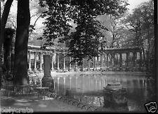 Paris Parc Monceau colonnade - négatif photo verre plaque an. 1930