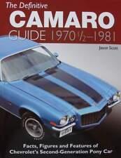 BOEK/LIVRE : CAMARO guide 1970 1/2 - 1981 (chevrolet pony car,oldtimer,muscle