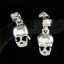 w Swarovski Crystal ~Skull~ Hip Hop Dia De Los Muertos Day of Dead Stud Earrings