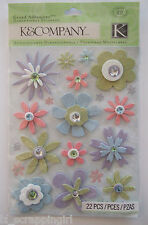WEDDING COLLECTION MULTI-COLORED FLOWERS Grand Adhesions Stickers K & CO Company