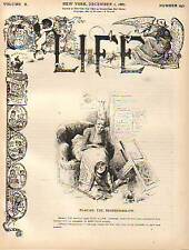 1887 Life December 1 - Barnum Fire; China Wedding;Women