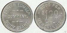 VERY RARE UNLISTED TASKER LUMBER CO. $1.00 SAWMILL TOKEN BLUE RIDGE GEORGIA GA