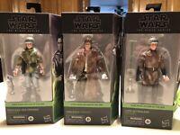 Star Wars Black Series lot Includes Luke Skywalker Princess Leia Han Solo Endor