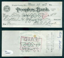 (114) Signed Personal Check Earl Combs Yankees JSA Autographed March 29, 1957