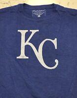 NWT Kansas City Royals Shirt Mens T-Shirt Size XL Royal Blue Retro Throwback NEW