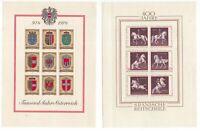 Austria 2 x circa 1970 miniature sheets mint