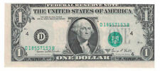U.S. - Series 1969-D $1.00 Federal Reserve Note (Misaligned First Print Error)