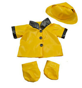 "Rain Slicker w/Hat & Boots Teddy Bear Clothes Fits Most 14""-18"" Build-A-Bear & M"