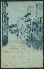 Padova Città Canale del Bacchiglione Chiaro di Luna cartolina VK1136