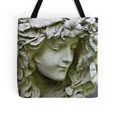 Garden Angel ~ Tote Bag w/Exclusive Stone Sculpture Design ~ Lovely, Elegant