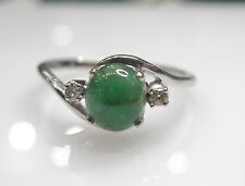 Emerald Size 6.25 In Sterling Silver Natural Diamond 0.04cts Ring With Natural