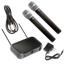Dual Wireless HandHeld Microphone System VHF With Mic Receiver Fr Home KTV Party
