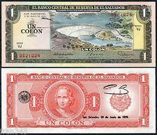EL SALVADOR 1 Colon 1977 1979 Pick 125b  SC- / aUNC