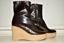 Robert Clergerie Barneys New York Platform Ankle Zip Boots 9.5 B
