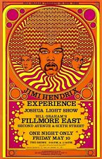 "3.25"" JIMI HENDRIX concert STICKER. Fender guitar. For your glass bong or pipe."
