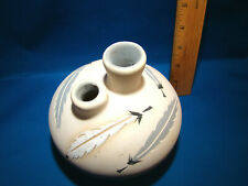 PUEBLO Indian Native American Pottery Wedding Vase signed Little grey 32 @H