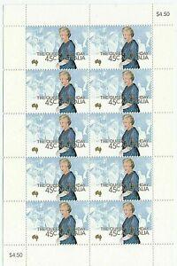 2000 AUSTRALIA STAMP MINI SHEET 'QUEEN EIIZABETH'S BIRTHDAY' 10 x 45c MNH STAMPS