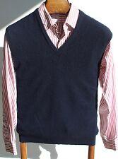 Brooks Brothers 42 Vintage Navy Blue V-Neck100% Cashmere Sweater Vest - England!
