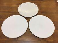 "Sasaki Colorstone Matte White 10-3/4"" Dinner Plate SET OF 3 PLATES"