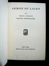 Armor Of Light, Mygatt & Witherspoon -1930 [Signed] Biblical Historical Fiction