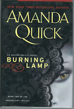 AMANDA QUICK BURNING LAMP SIGNED 1st Edition Hardcover Brodart Cover NEW