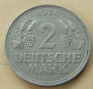 1951 German 2 mark coin