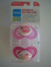 UTRA RARE! MAM Pacifiers Soft Silicon Orthodontic Nipples Monster Collection NIP