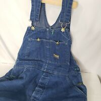 Vtg Osh Kosh B'Gosh Vestbak Carpenter Bib Overalls Sanforized Denim Men's 36x29