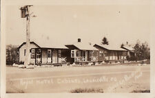 Postcard RPPC Royal Hotel Cabines Laurieville PQ Canada