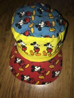 Mickey Mouse Walt Disney Company Vtg 80s Painters Cap Hat Panel All Over Print