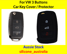 New Black Silicone Car Key Cover for VW Volkswagen Golf Jetta Passat Polo Tiguan
