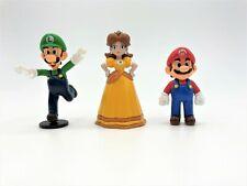 Nintendo Super Mario Mini Figures Daisy, Mario & Luigi 2007 Popco Goldie Lot