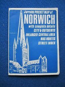 Jarrold's Pocket Street Map - Norwich    1975