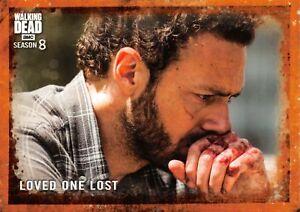 Walking Dead Season 8 Part 1 RUST PARALLEL BASE Card #34 / LOVED ONE LOST