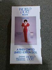 """19"""" 1985 Dynasty, Alexis Colby World Doll. Nib."""