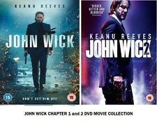 John Wick Chapter 1 and 2 DVD Original UK Rel New R2 1st 2nd Part Movie Film