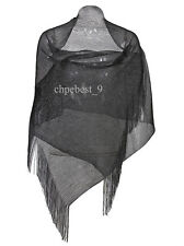 Black Classic Elegant Plain Chiffon Soft Ladies Scarf  Womens Scarfs Shawl Wraps