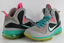 pretty nice 975ca 52e15 Nike Lebron IX 9 South Beach Wolf Grey Mint Candy New Green Pink Flash Size  6