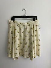 Denim & Supply Ralph Lauren Ivory Floral Print Skirt sz XL New NWT