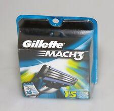 GILLETTE MACH 3 Refill Blades -- 15 Cartridges