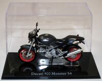 ATLAS - DUCATI 900 MONSTER S4 MOTORCYCLE - 1:24 -BOXED WITH DISPLAY STAND/CASE