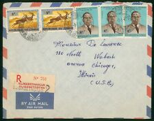 Mayfairstamps Congo 1965 Elizabethville to Us Registered Airmail Cover wwr27235
