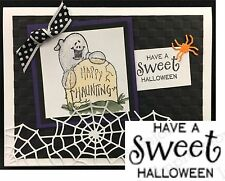 Have A Sweet Halloween Rubber Stamp Impression Obsession Stamps A5473 Holidays