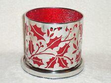 Partylite Enchanted Crimson Berry Candle Holder -- NIB