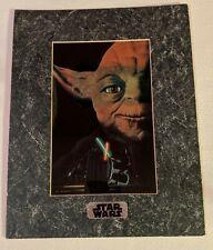 Vintage Star Wars Chromart Yoda Return of the Jedi Print 1995