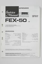 PIONEER FEX-50 Car Audio System Orig. Service-Manual/Anleitung/Schaltplan! o69