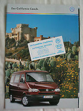 VW California Motorhome brochure Apr 1999 German text