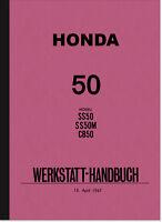 Honda SS CB 50 M Reparaturanleitung Montageanleitung Werkstatthandbuch Manual